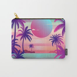Sunset Palm Trees Vaporwave Aesthetic Carry-All Pouch