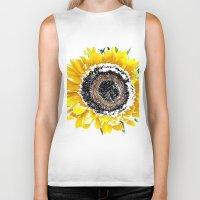 sunflower Biker Tanks featuring Sunflower by Regan's World