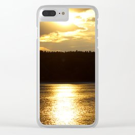 Sunset at Concord's Walden Pond 7 Clear iPhone Case