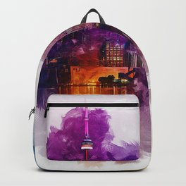 Toronto Canada Skyline Art Backpack