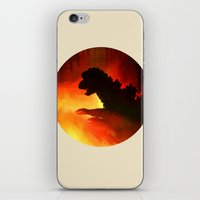 godzilla iPhone & iPod Skins featuring godzilla by avoid peril