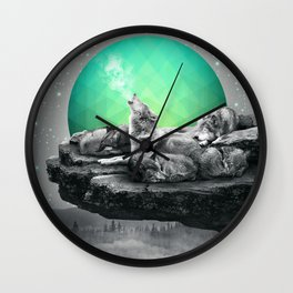 Echoes of a Lullaby / Geometric Moon Wall Clock