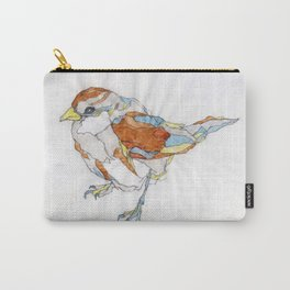 Sparrow   Watercolor Drawing Carry-All Pouch