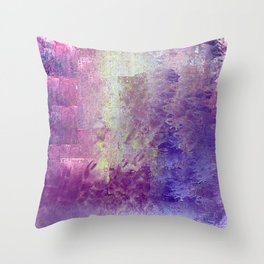 Abstract in Purples and Green Throw Pillow