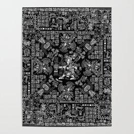 Mayan Spring B&W II Poster