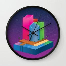 Miami Nights Wall Clock