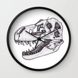 T. rex skull Wall Clock
