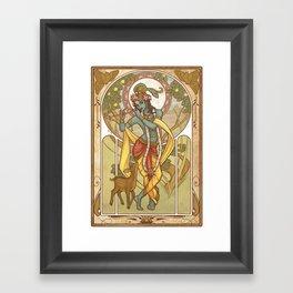 Krishna Nouveau Framed Art Print