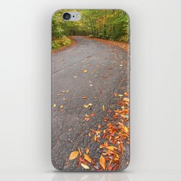 Winding Autumn Forest Road iPhone Skin