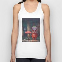 attack on titan Tank Tops featuring My Neighbor Titan by Ron Chan