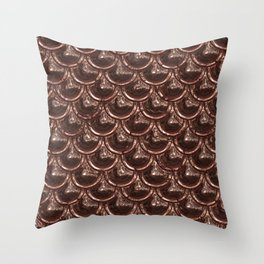 Precious Shimmering Copper Scales Throw Pillow