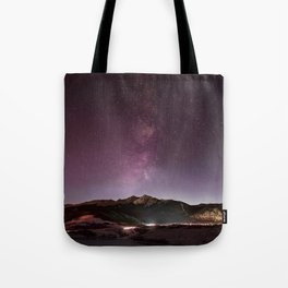 Milky Way Landscape Tote Bag