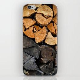 Fire Wood iPhone Skin