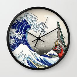 Legend of Zelda Great Wave Windwaker - the great wave off kanagawa Wall Clock
