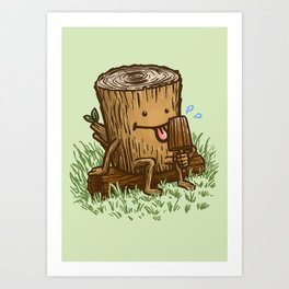 The Popsicle Log Art Print