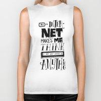 internet Biker Tanks featuring Internet Envy by Chris Piascik