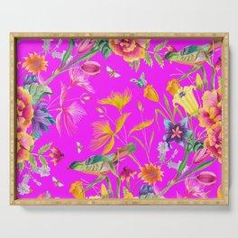 Bold Summer Print on Magenta Pink Serving Tray