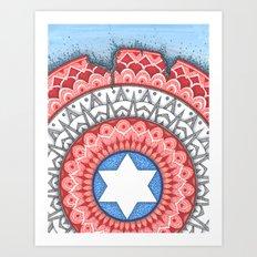 Captain (Star of David) America Art Print