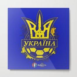 ukraine,france uefa euro 2016 Metal Print