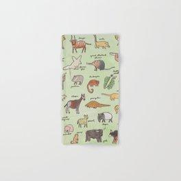 The Obscure Animal Alphabet Hand & Bath Towel