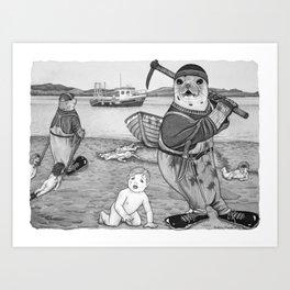 Commercial Man Hunt Art Print