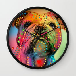animals dogs Wall Clock