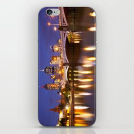 II - Skyline of Melbourne, Australia across the Yarra River at night iPhone Skin