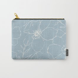 Floral Simplicity - Blue Carry-All Pouch
