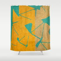 titan Shower Curtains featuring Titan - Hyperion by Fernando Vieira