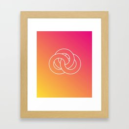 Geometry Framed Art Print