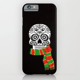 Funny skull with scarf iPhone Case
