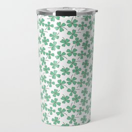 Pattern Project #53 / Four Leaf Clovers Travel Mug