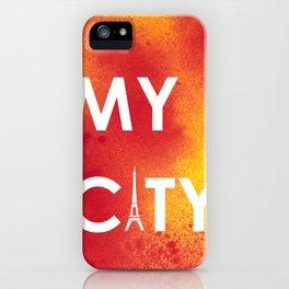 MyCity-Paris-RedYellowA iPhone Case