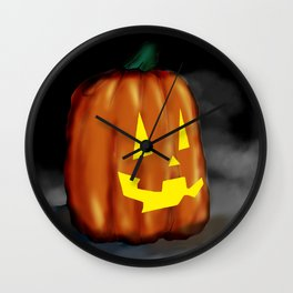 Smiling Pumpkin Wall Clock