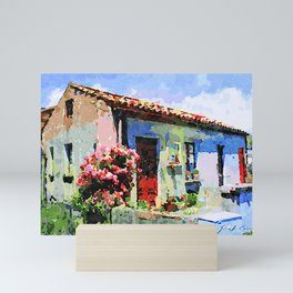 Catanzaro: home and flower Mini Art Print