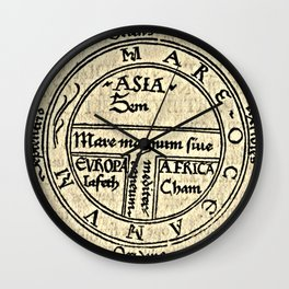 T and O map Guntherus Ziner 1472 Wall Clock