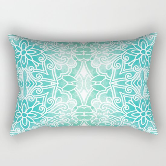 Water Mandala Rectangular Pillow