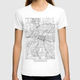 Sacramento Map White T-shirt