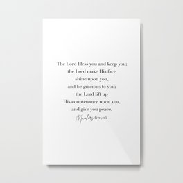 The Lord Bless You and Keep You Numbers 6 Metal Print
