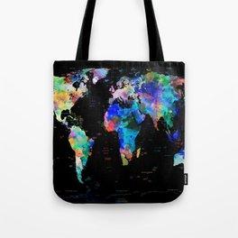 world map political watercolor Tote Bag
