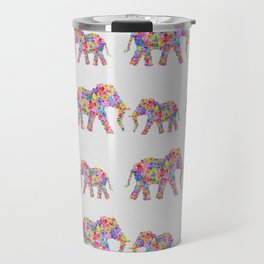 Floral Elephants Travel Mug