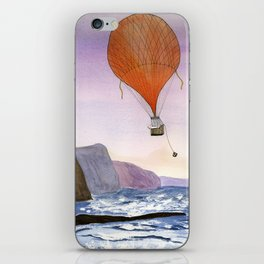 Air-ballon cat scanning for his friend iPhone Skin