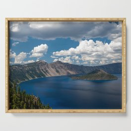 Cloud Camo Crater Lake Serving Tray