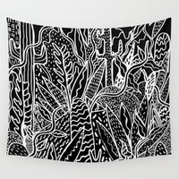 garden Wall Tapestries featuring THE GARDEN by Kris Tate