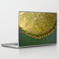 lime green Laptop & iPad Skins featuring Lime! by Caroline Benzies Photography
