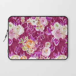 MERLOT PROFUSION FLORAL Laptop Sleeve