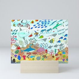 Colorful Fish Tank Mini Art Print