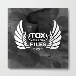 Tox Files - White on Gray Metal Print