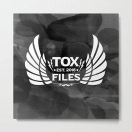 Tox Files - White on Gray Metal Print