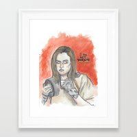 oitnb Framed Art Prints featuring Chapman OITNB by Ashley Rowe